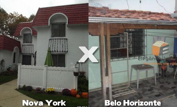 Casas em Nova York e Belo Horizonte