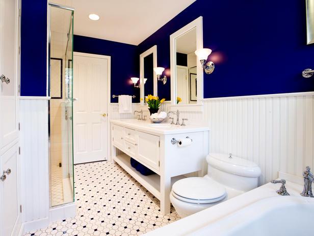 Banheiro Azul Escuro