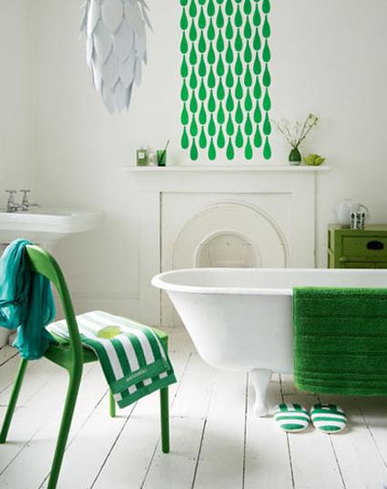 Banheiro com Verde