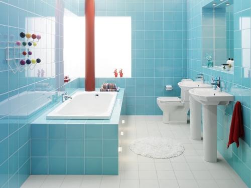 Banheiro Cor Turquesa