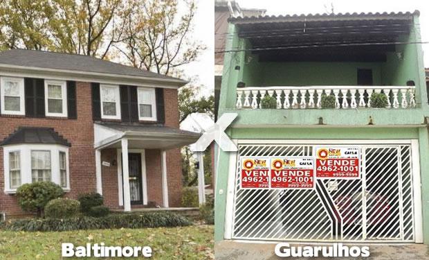 Casas em Baltimore e Guarulhos