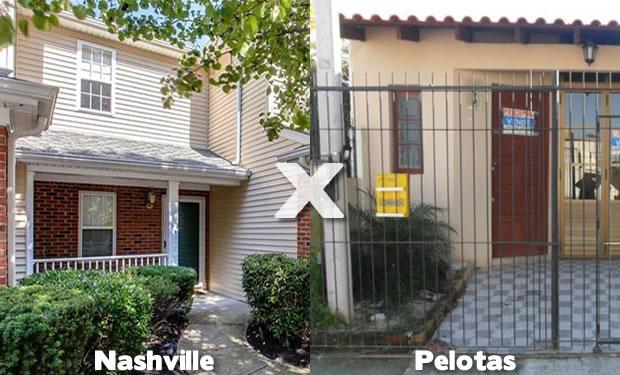 Casa em Nashville e Casa em Pelotas