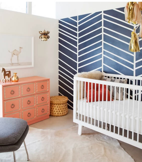 quarto para bebê compapel de parede
