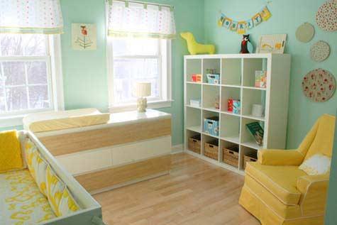 quarto para bebê verdinho