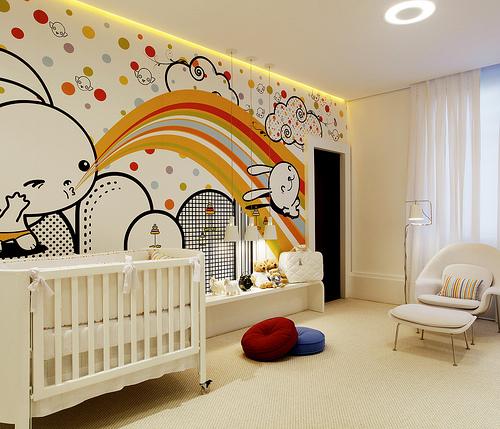 62 ideias para quartos de beb arquidicas for Deco mural bebe