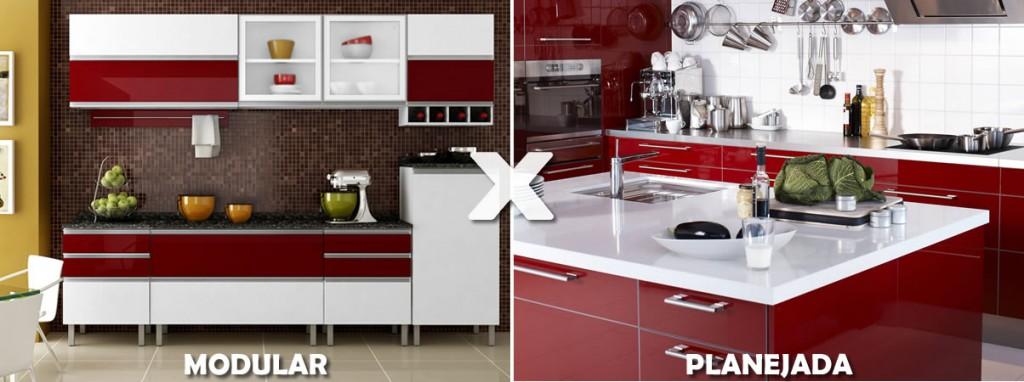 Cozinha planejada ou modular