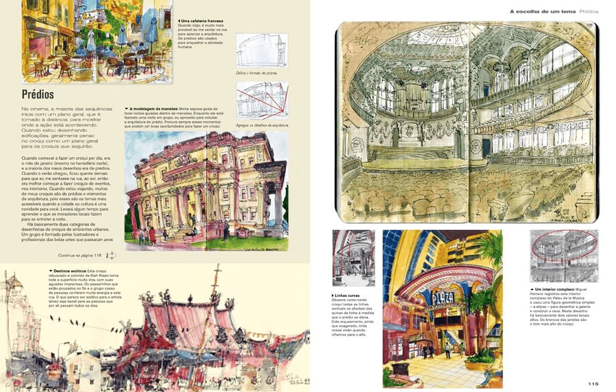 Urban Sketching - Guia Completo de Técnicas de Desenho Urbano