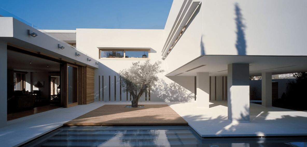 Casa contempor nea grega arquidicas for Ver interiores de casas modernas
