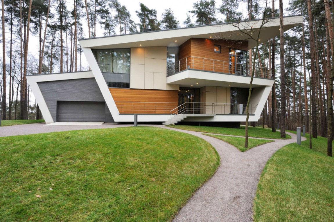 73 fachadas de casas ideias para inspirar arquidicas for Viviendas de campo modernas