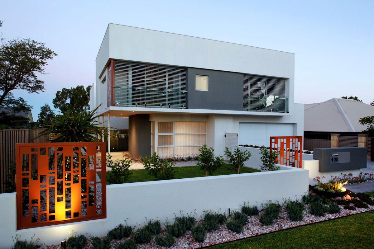Casas com fachadas contemporâneas