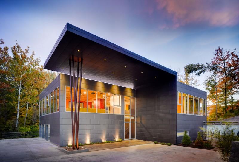 Fachada para casas contemporâneas