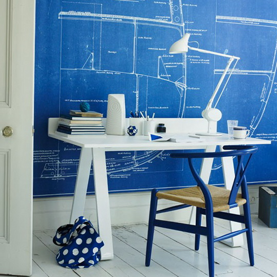 Home Office Azul Royal
