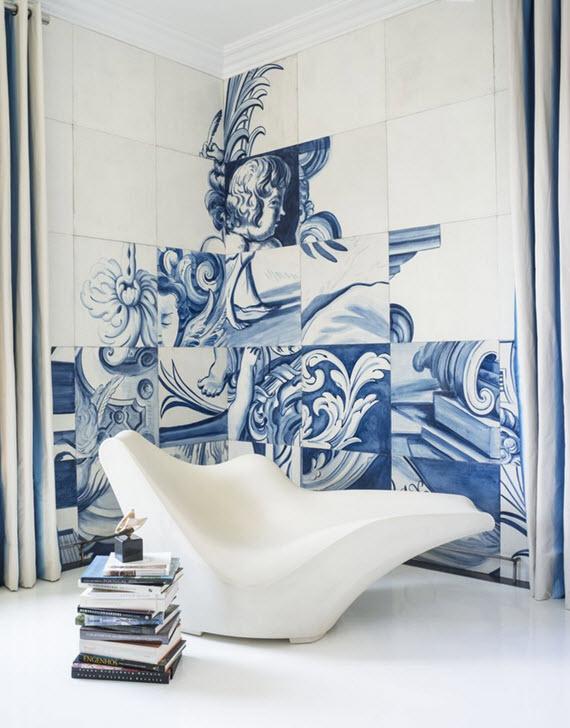 estampa de azulejo português