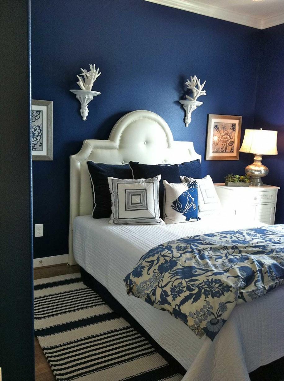 Azul Royal Decora O Arquidicas ~ Azulejo Para Parede De Quarto E Decoraçao Quarto De Casal