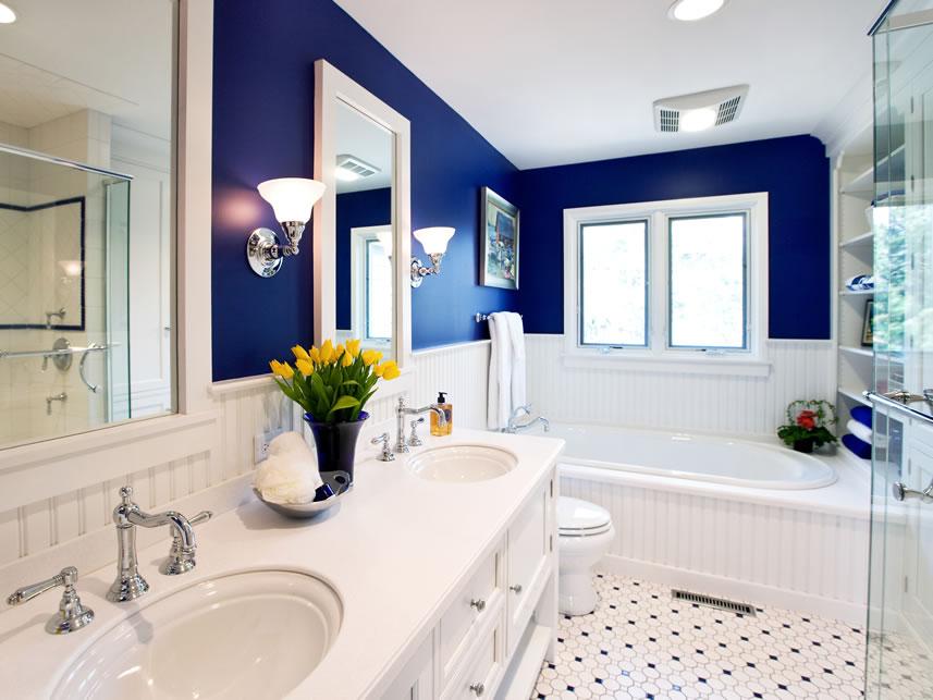 Banheiro Chique Azul