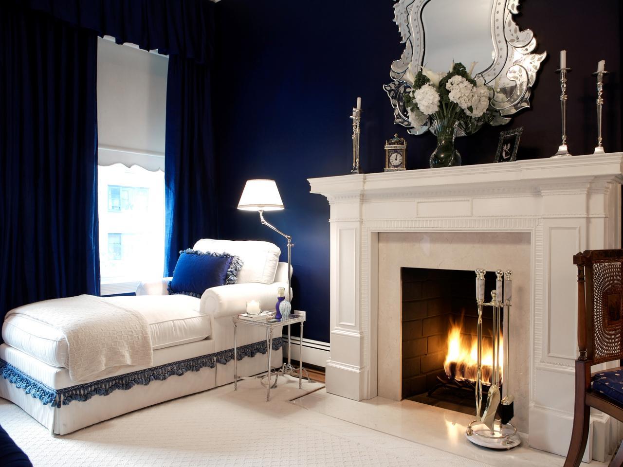 Sala Parede Azul Rodape Branco E Parede Escura Sala Com Parede Azul  -> Parede Da Sala Listrada Azul Marinho