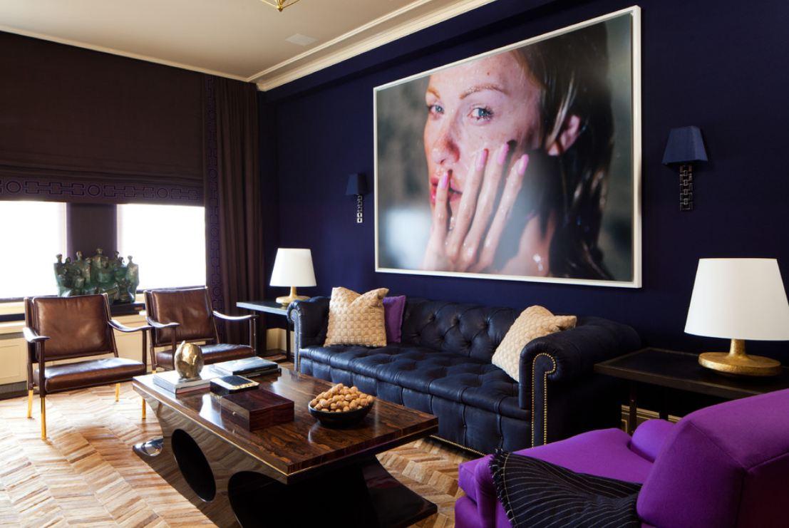 Azul royal decora o arquidicas for Sala queen pontevedra