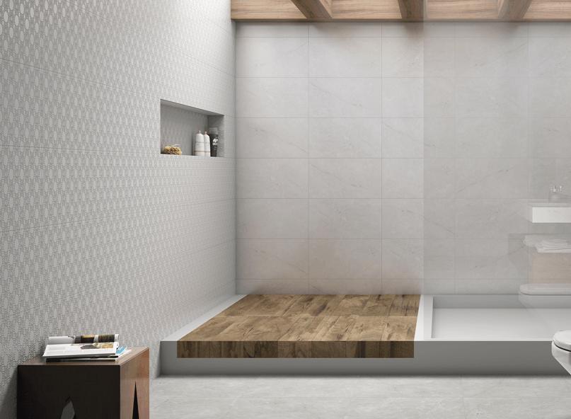 9 Tendências de Revestimentos em 2015  Arquidicas -> Banheiro Decorado Com Revestimento Eliane