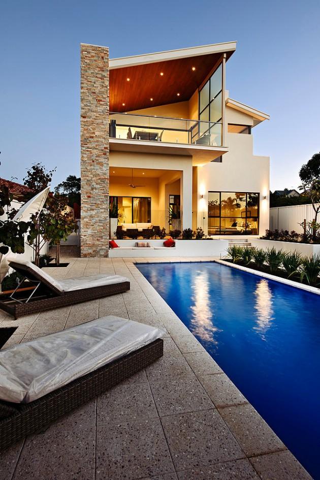Incr veis casas modernas 84 novas ideias arquidicas for Casa moderna con piscina