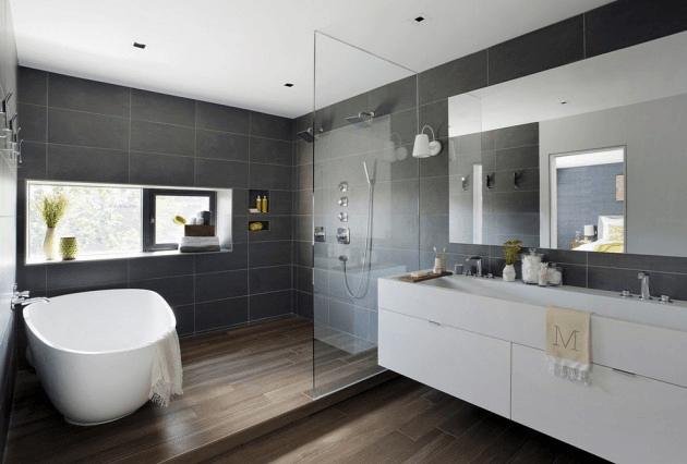 Banheiros Modernos Preto e Branco