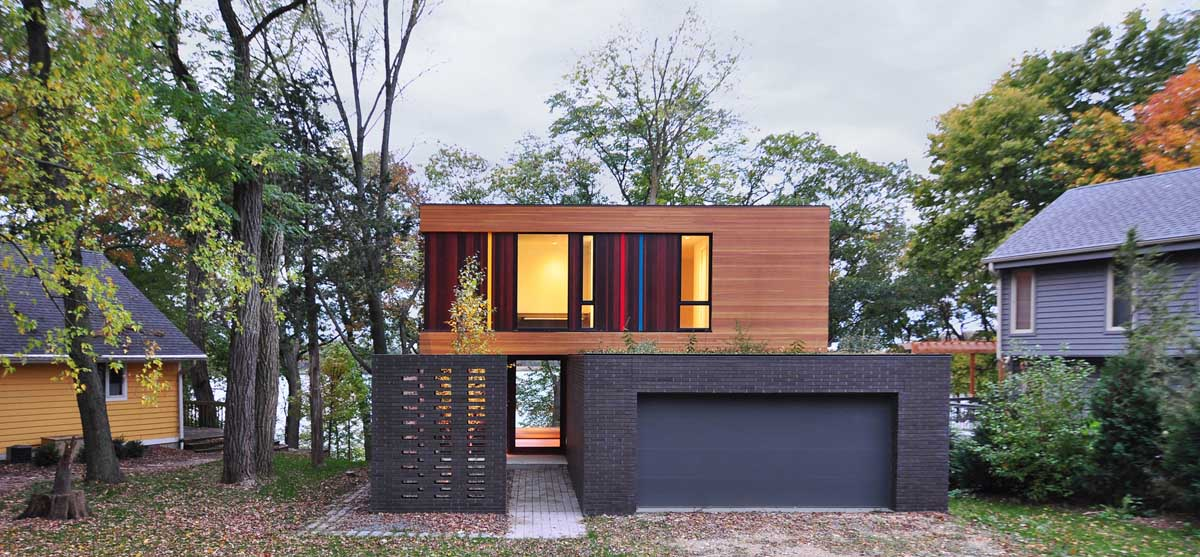 Fachadas de casas modernas 51 boas ideias arquidicas for Award winning house designs in india