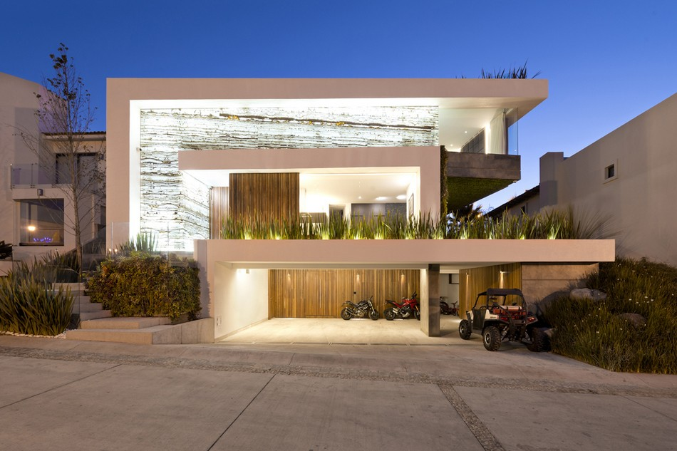 Fachadas de casas modernas 51 boas ideias arquidicas for Modelos de casas con terrazas modernas
