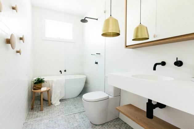 65 Banheiros Modernos Surpreendentes  Arquidicas -> Banheiro Moderno E Simples