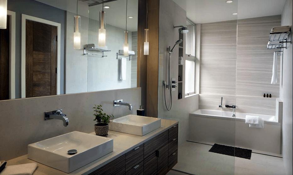53 Banheiros Modernos Surpreendentes  Arquidicas -> Banheiros Projetados Modernos