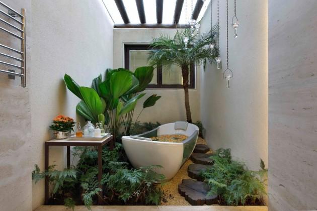 Banheira Moderna no Jardim