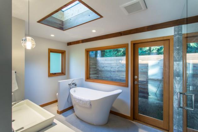 65 Banheiros Modernos Surpreendentes  Arquidicas -> Acabamento Banheiro Com Banheira