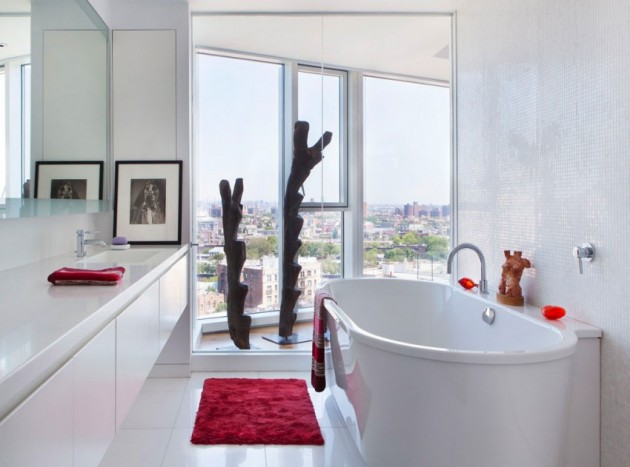 65 Banheiros Modernos Surpreendentes  Arquidicas -> Banheiros Modernos Claros