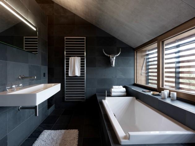 Banheiro Moderno Escuro
