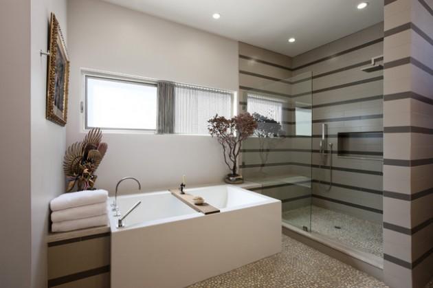 65 Banheiros Modernos Surpreendentes  Arquidicas -> Cuba Banheiro Grande