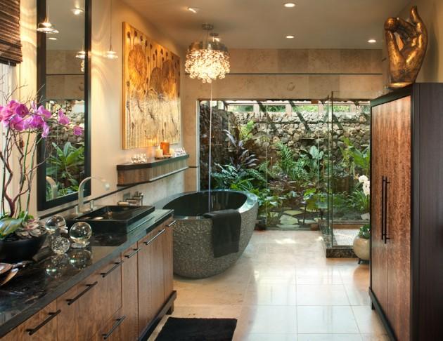 Banheiro Moderno Oriental