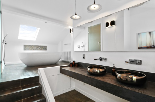 65 Banheiros Modernos Surpreendentes  Arquidicas -> Banheiro Moderno De Casal