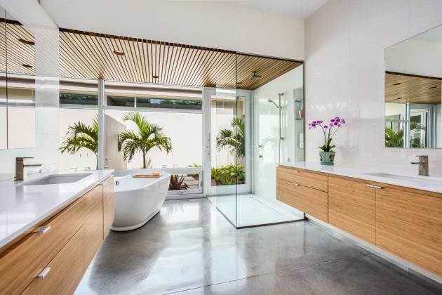 Banheiro Moderno Piso Cimento