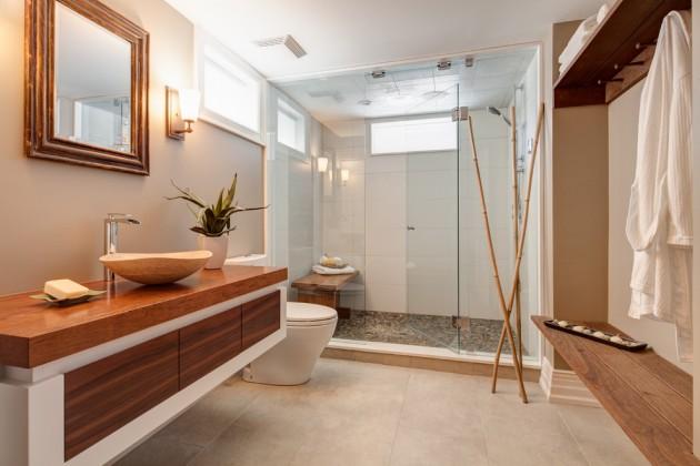 Banheiros Grandes e Modernos