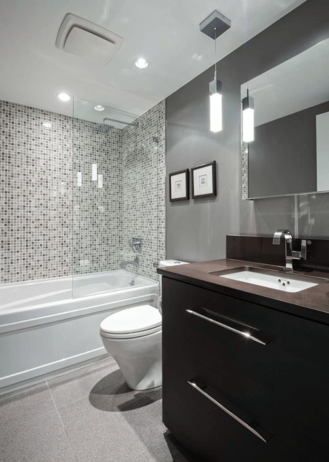 65 Banheiros Modernos Surpreendentes  Arquidicas -> Banheiros Modernos Azul