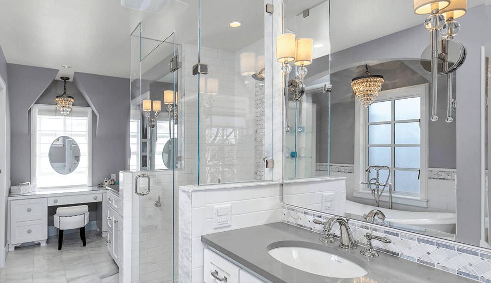 65 Banheiros Modernos Surpreendentes  Arquidicas -> Banheiros Modernos Decorados Com Pastilhas