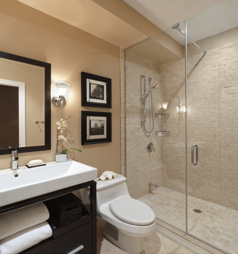 65 Banheiros Modernos Surpreendentes  Arquidicas -> Banheiros Modernos Pequenos E Baratos
