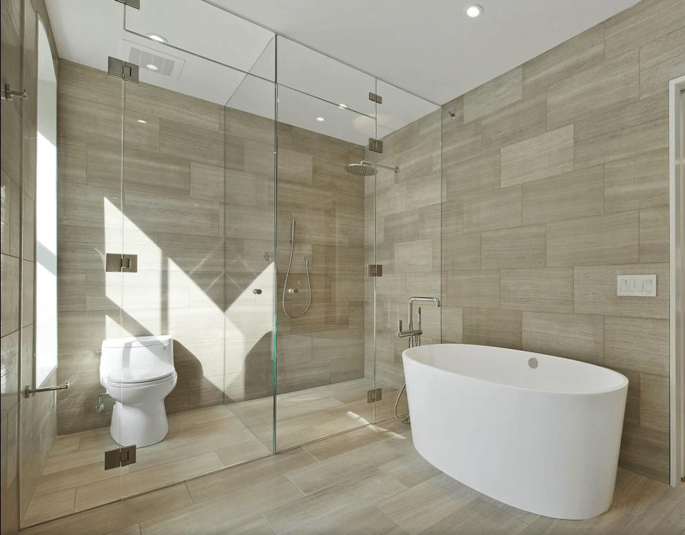 65 banheiros modernos surpreendentes arquidicas - Fotos pisos modernos ...