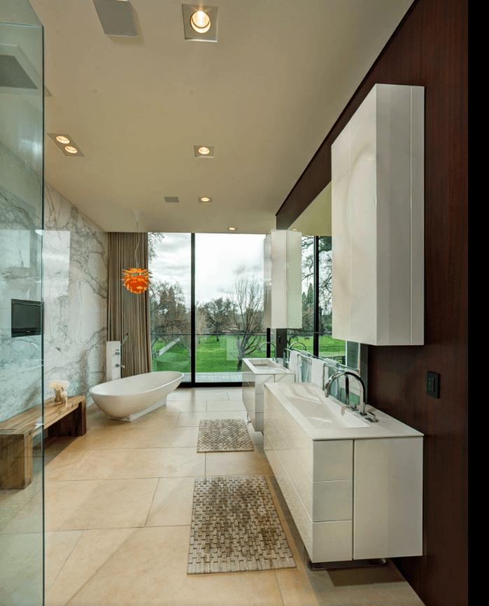 65 Banheiros Modernos Surpreendentes  Arquidicas -> Balcao Banheiro Moderno