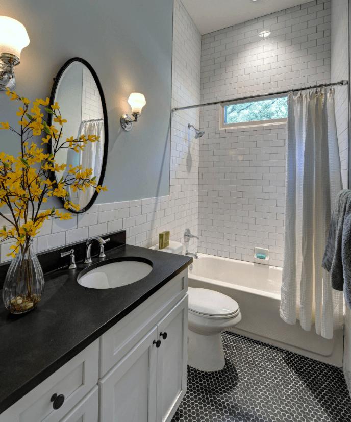 65 Banheiros Modernos Surpreendentes  Arquidicas -> Tapete Banheiro Pequeno