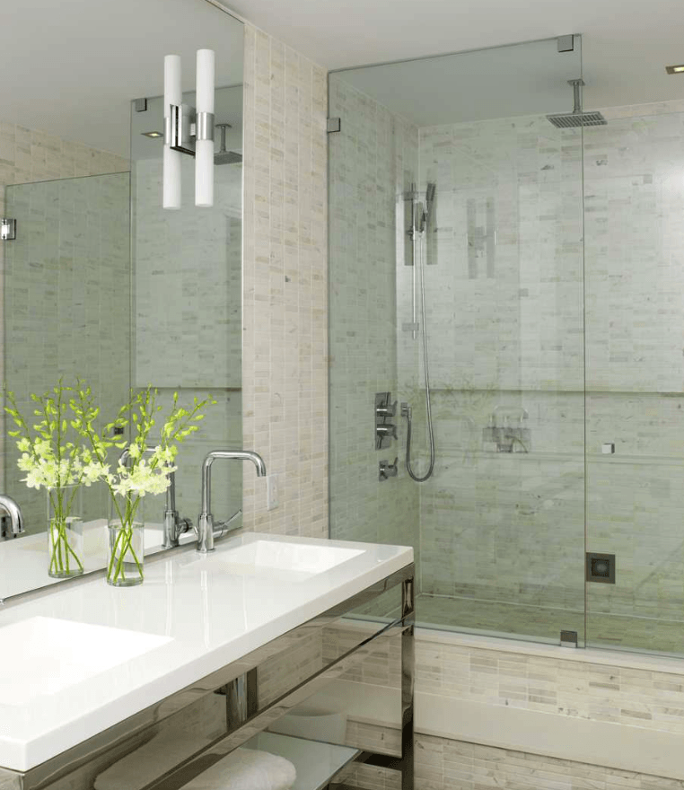 65 Banheiros Modernos Surpreendentes  Arquidicas # Banheiros Modernos Pisos