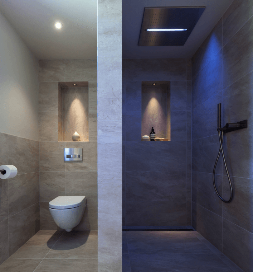 65 Banheiros Modernos Surpreendentes  Arquidicas -> Banheiros Modernos Pastilhados