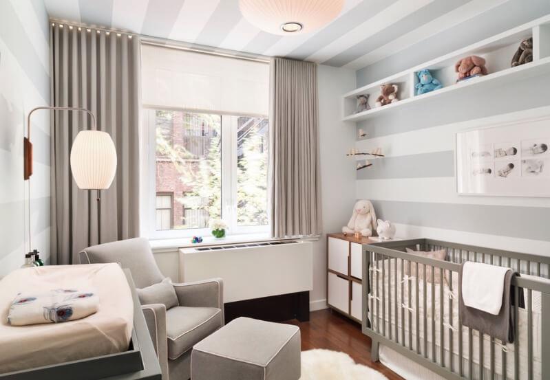 quarto de bebê De solteiro cinza