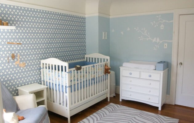 Quarto de Bebê – Fotos e Ideias para Decoração Arquidicas ~ Adesivos Quarto Bebe Masculino