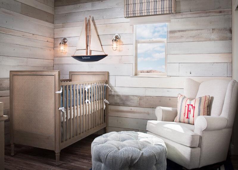 quarto de bebê De solteiro rustico