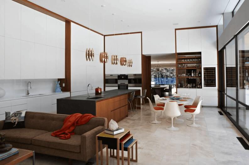 cozinha americana com sala simples