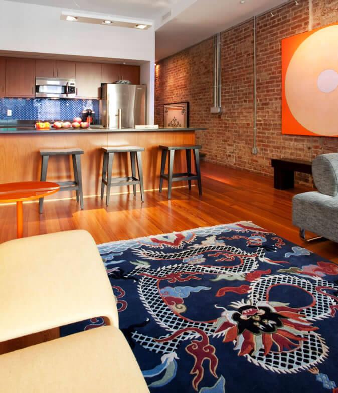 cozinha amerciana com sala de estar